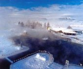 Thermal swimming pool Besenova in winter